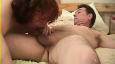 Jerri Hallywell gets her nasty old gash filled up with man meat