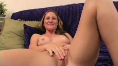 Sensual young blonde with small tits sucks and fucks a black rod in POV
