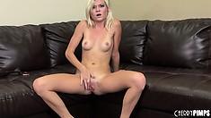 Blond slut Chloe Foster experiences the deep emotional stress