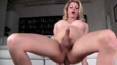 Tranny Tyra Scott gets her butt hammered and goes ass to mouth in POV