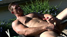 Paul Wagner is happy with flogging his dong in a countryside
