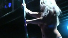 Sensuous Blonde Stripper With A Perfect Body Puts On A Wonderful Show