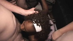 Trashy Black Babe Gets Her Anal Hole Creampied And Takes A Huge Facial