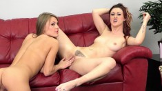 Two Ravishing Lesbian Friends Get Naked And Make Each Other Cum Hard
