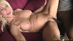 The horny lady has him licking and fingering her cunt paving the way for his shaft