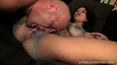 Horny babe Missy Martinez gives head and begs to get creampied