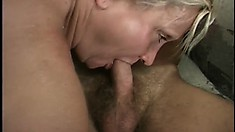 Grandma Katia has a well used body but make them both cum on her