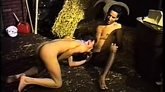 Horny cowboys exchange oral pleasures and enjoy anal sex in the barn