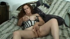 Chubby redheaded whore eats his dark meat and gets fucked hard