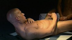 In the interrogation room, two horny guys fulfill their sexual desires