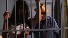 Stacked brunette prisoner Olivia O'lovely gets pounded by Jean Valjean