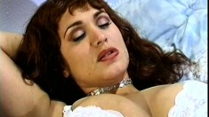 Brunette MILF gets banged senseless by a younger man's big cock