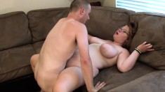 Big breasted wife Mary Jane has a hard prick making her snatch happy