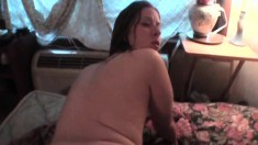 Lustful girl with a big round booty Kathryn loves it deep doggy style