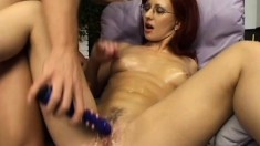 Nerdy redhead wants to ride a throbbing piston to completion
