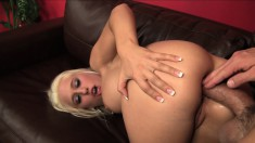 Voluptuous Blonde Sammie Gets Her Tight Anal Hole Filled With Hot Jizz