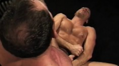 Handsome gay lovers with amazing bodies sucking and fucking each other