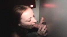 Luscious Gloryhole Teen Christine Displays Her Cocksucking Abilities