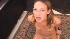 Beautiful Blonde College Girl With Nice Tits Cums Hard On The Sybian