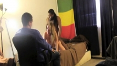 Amateur Wife Gives An Interracial Cuckold Handjob