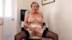 Solo mature masturbating on webcam