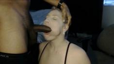 Cute BBW Blonde w Huge Tits Fucking BBC