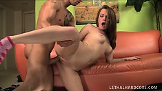 Monica Rose moans seductively while she makes love to a big cock