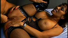 Smoking hot brunette whore gets banged by a dirty cop in jail