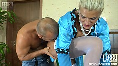 Hannah gets fucked hard by Benjamin and finishes him off with a blowjob